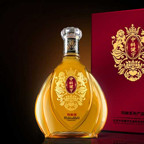 酒类礼盒设计 北京中科健宇玛咖酒包装设计