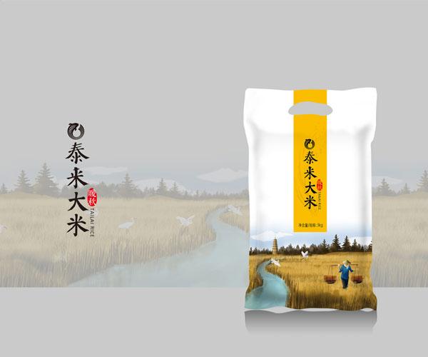 泰来大米包装设计-优质大米首选