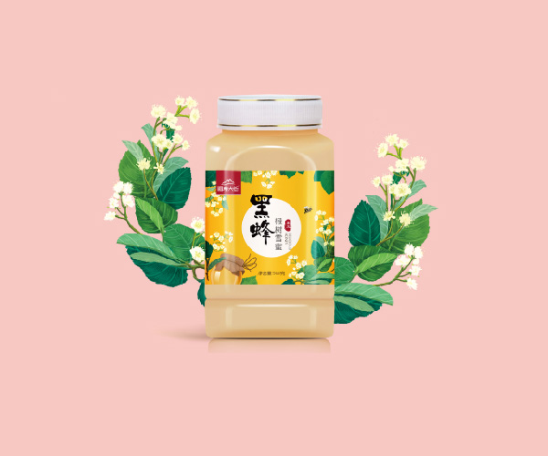 福寿大街牌黑蜂椴树雪蜜包装设计