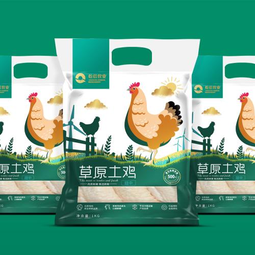 乾信牧业鸡肉系列包装设计