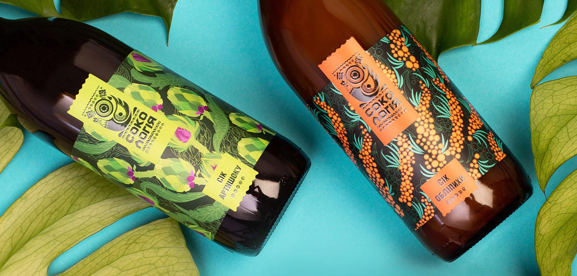 乌克兰Sokologia天然果汁包装设计