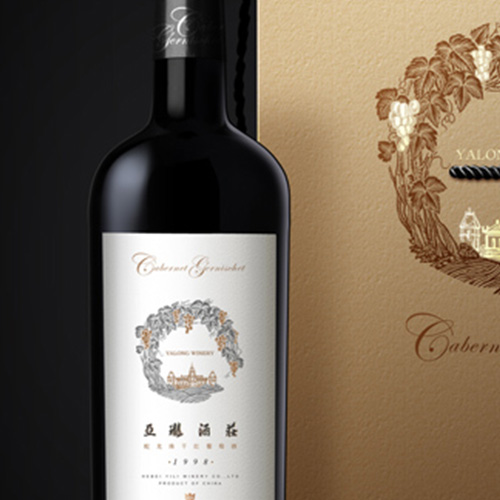 亚珑酒庄葡萄酒瓶体包装设计