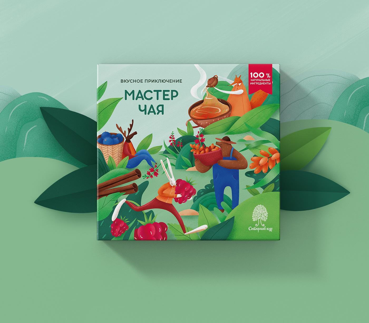 西伯利亚雪松美味冒险系列产品包装设计