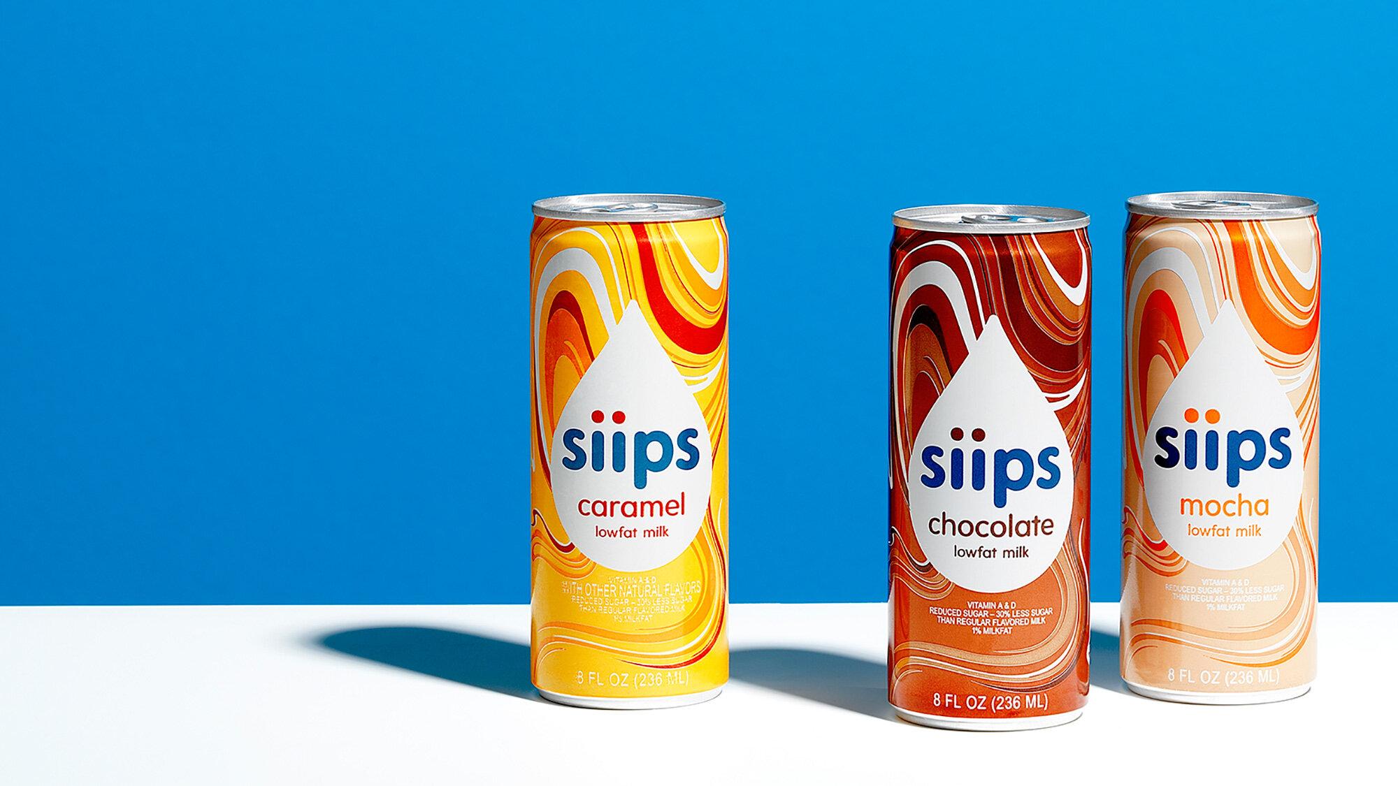 Siips Caramel Lowfat Milk 低脂牛奶包装设计