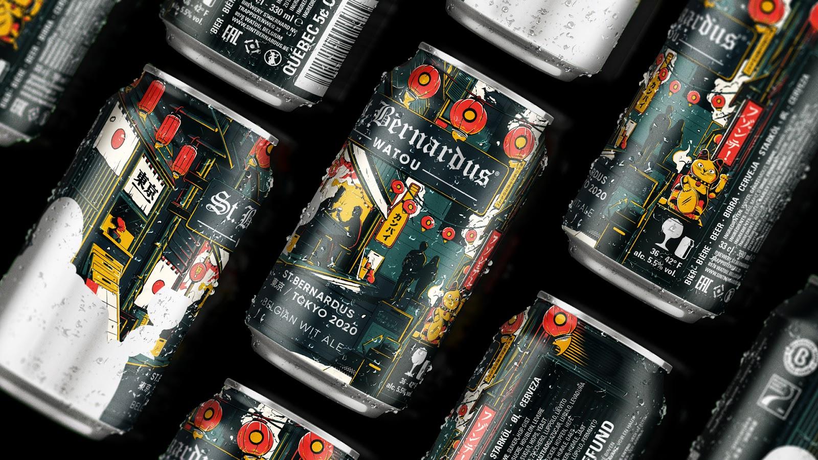 分享一组St. Bernardus啤酒包装设计