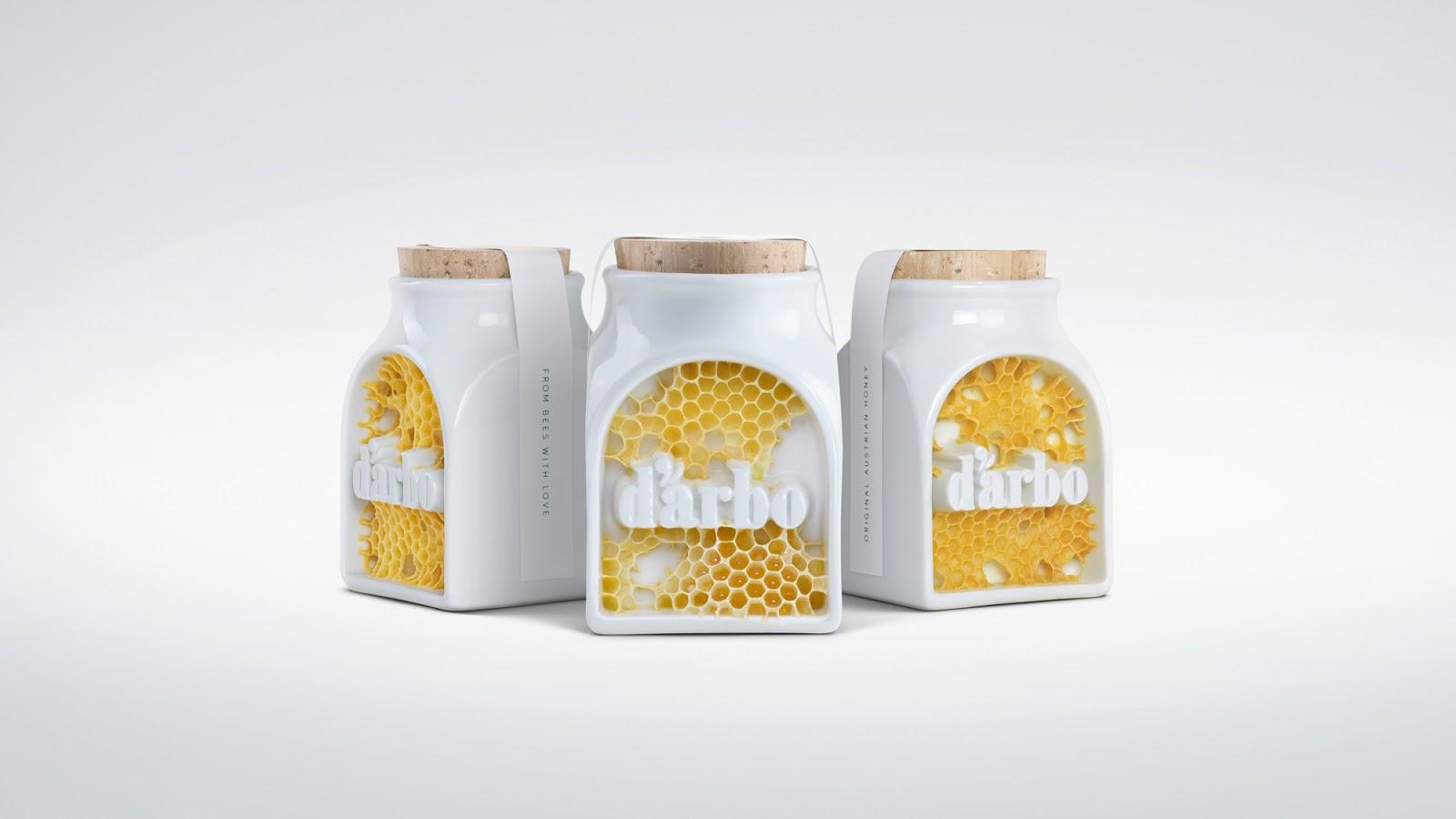 Darbo - Signed by Bees瓷罐蜂蜜包装创意设计