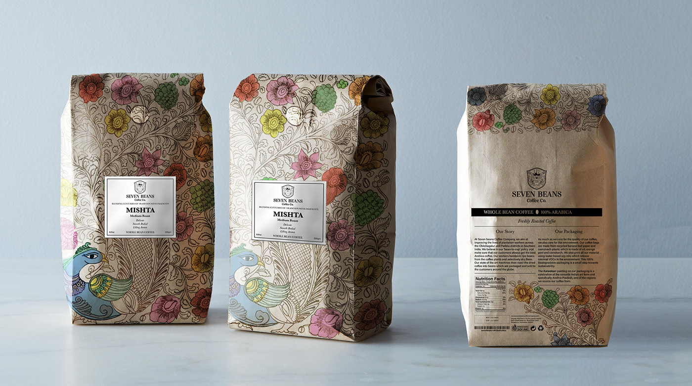 咖啡包装设计 Coffee Bean Packaging - Sustainable Packaging Design