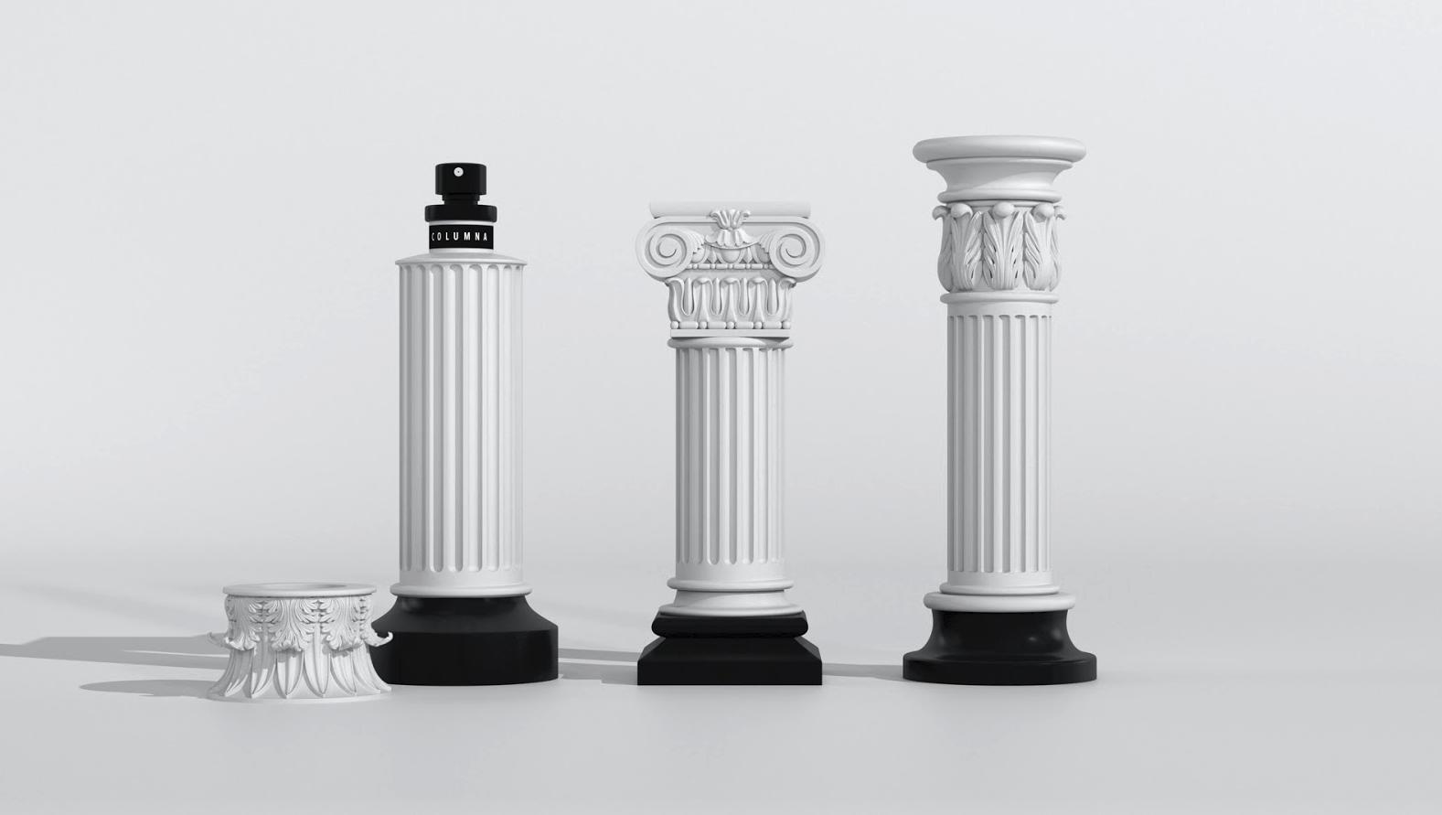 罗马柱香水包装设计