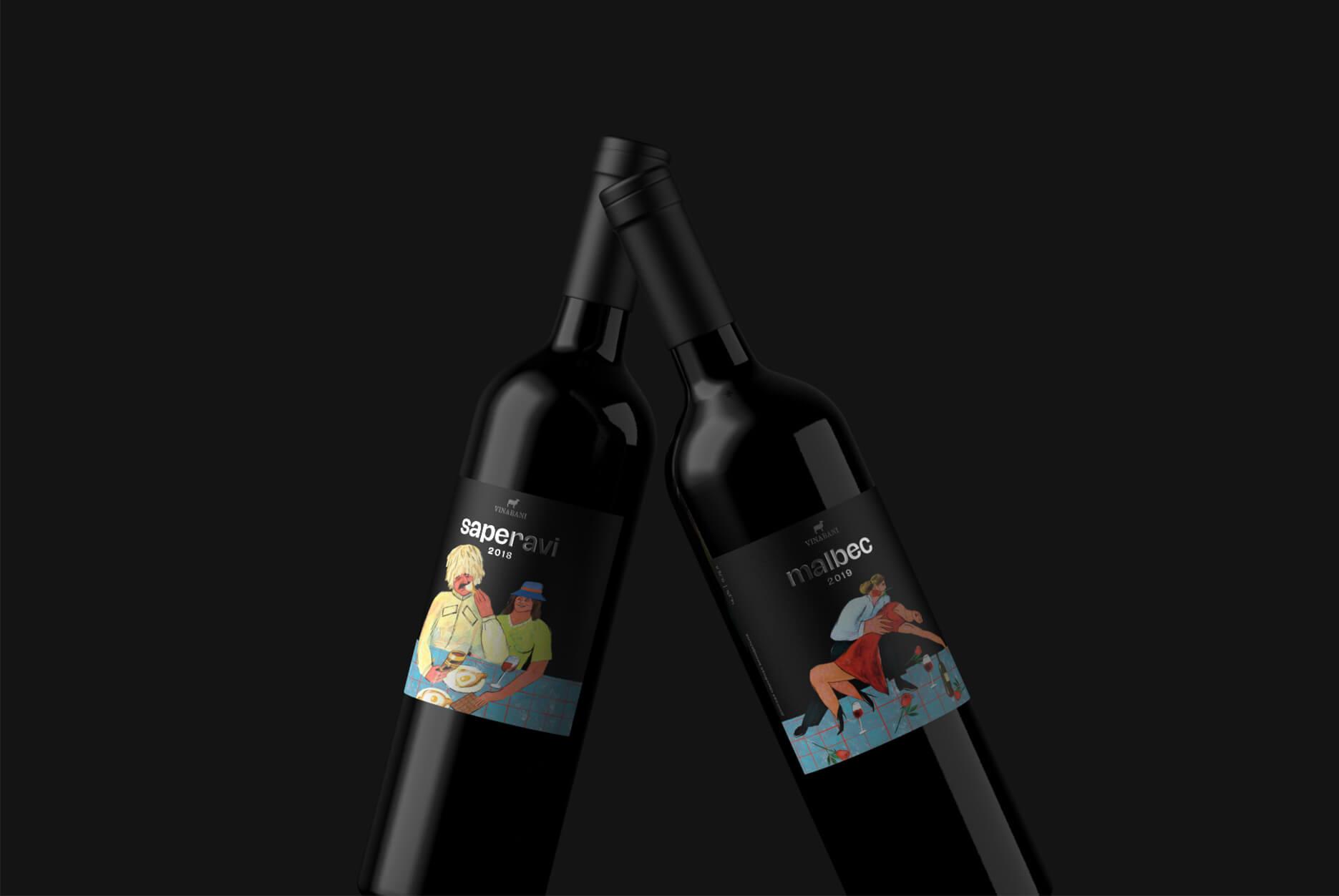 俄罗斯葡萄酒品牌VinaBani包装设计