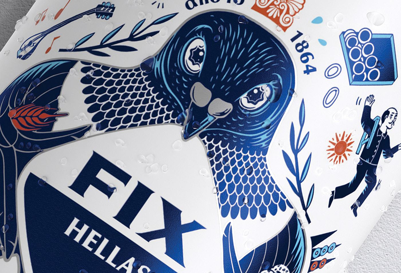 国际包装设计分享:希腊啤酒包装设计 FIX HELLAS,充满地域特色