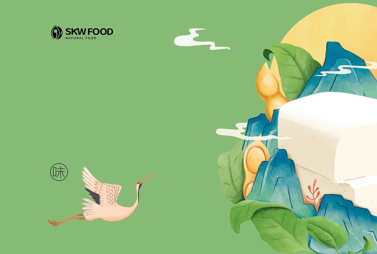 国潮风豆腐包装设计