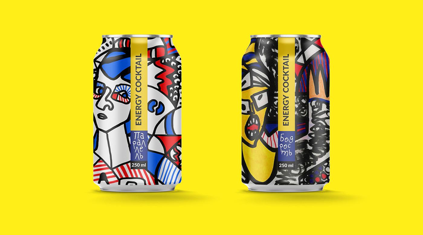 能量鸡尾酒包装设计&啤酒包装设计