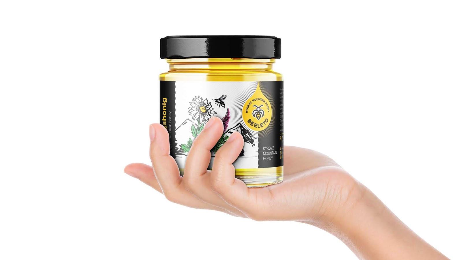 欧洲honey优质天然蜂蜜包装设计