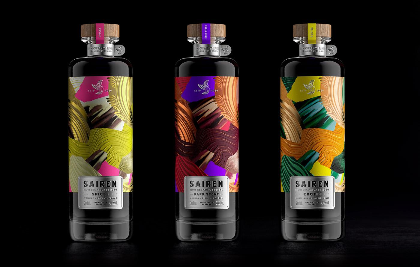 全新系列清香朗姆酒包装设计