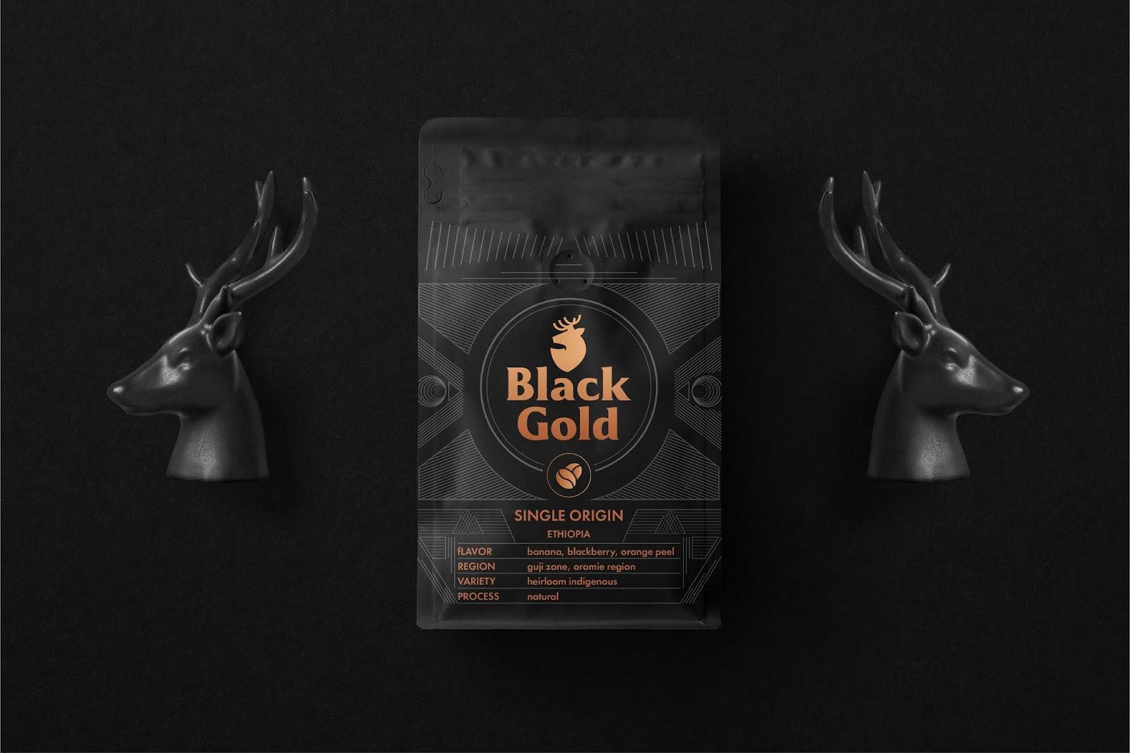 Blackgold咖啡品牌和产品包装设计