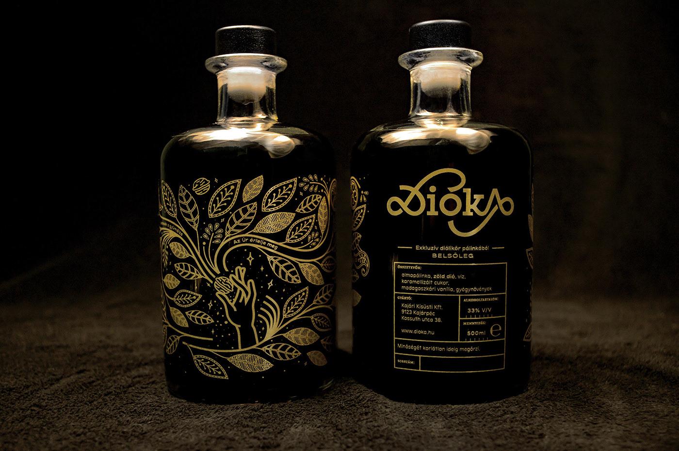 北京包装设计分享| 匈牙利核桃酒黄金包装设计欣赏