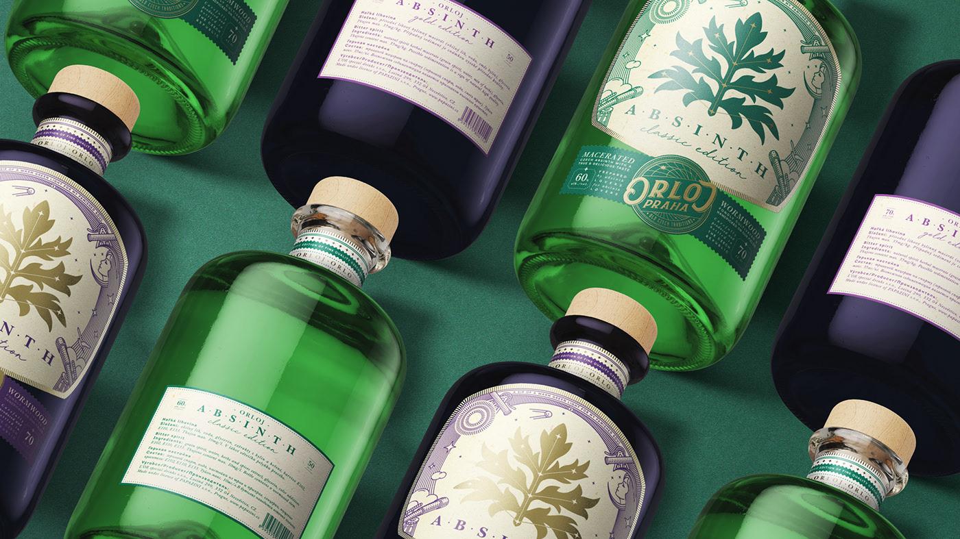 Orloj absinth 苦艾酒包装设计欣赏