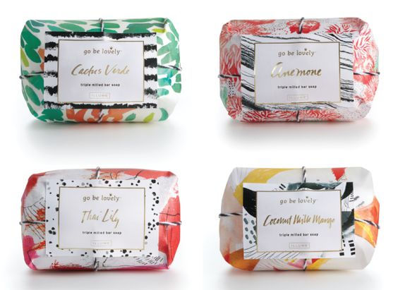 可爱风格的香皂包装设计