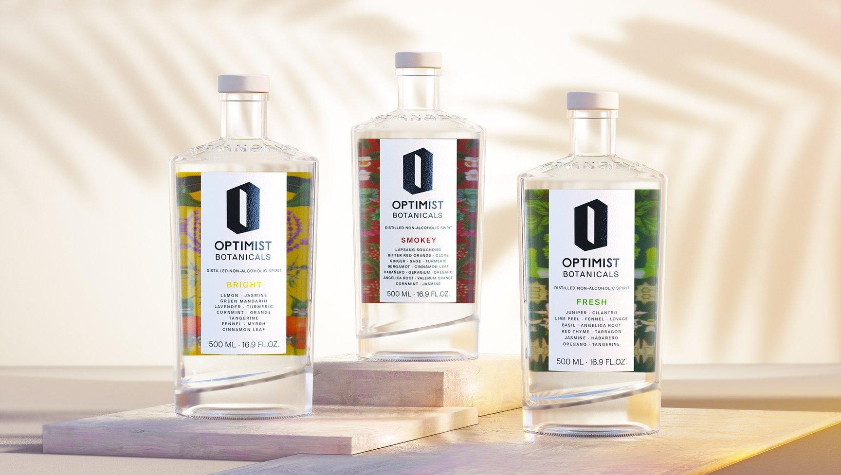 不含酒精的酒,Optimist Botanicals包装设计欣赏