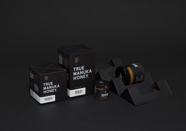 麦卢卡TRUE MANUKA HONEY蜂蜜包装设计