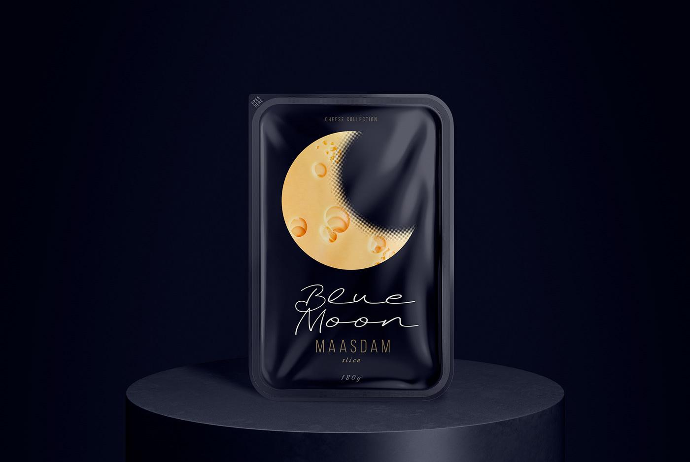 奶酪蓝月亮食品包装设计
