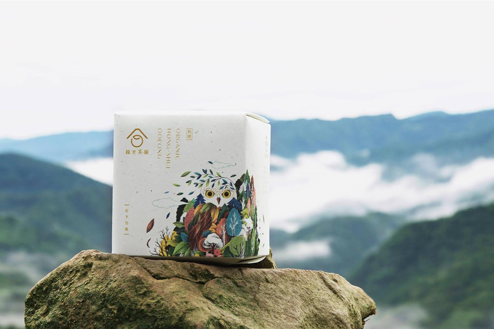 绿光茶园有机茶叶包装设计欣赏