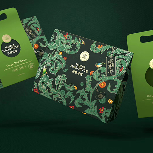 巴黎贝甜X西林:夏色倚青艾   粽香传平安, 端午礼盒包装设计