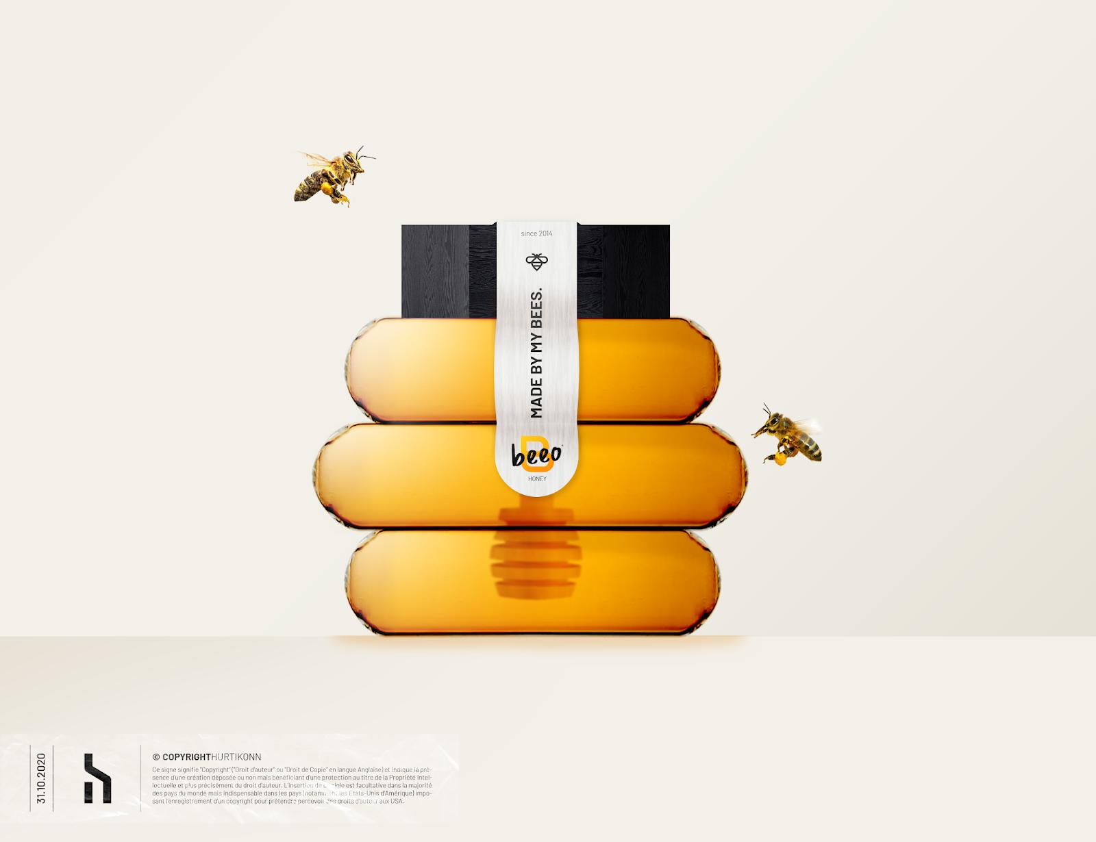 很有特点的蜂蜜包装设计创意