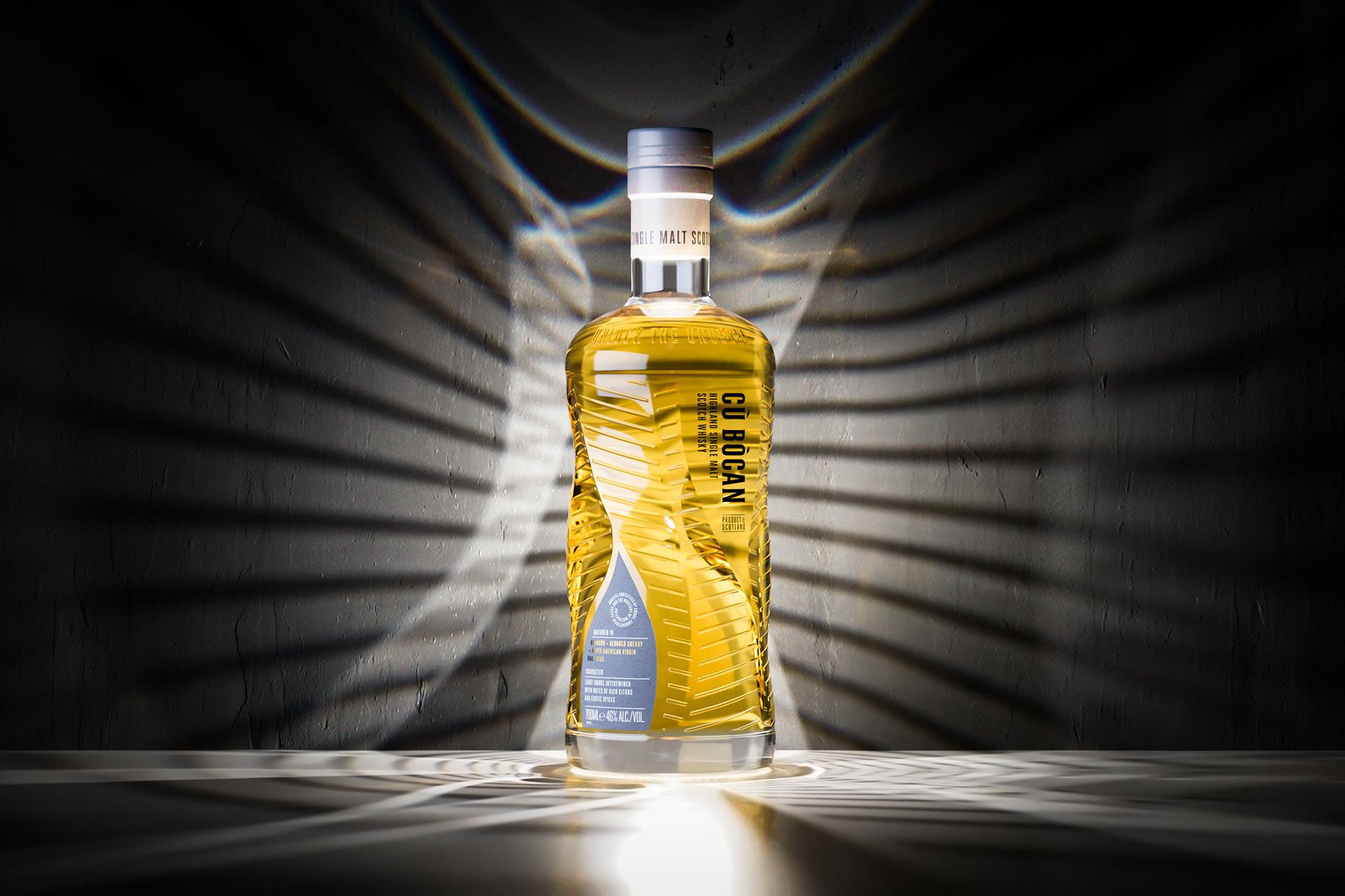 Cù Bòcan Whisky包装设计为新观众释放了威士忌的世界