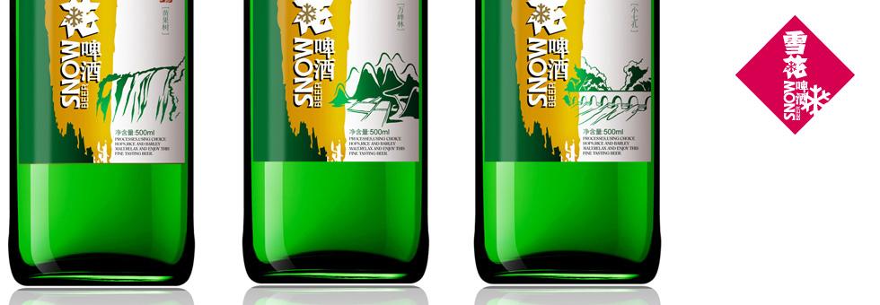 雪花啤酒瓶型风格包装设计