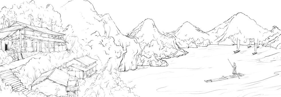 """比较有代表性的运用白描手法插画的是""""国珍香兰阁""""与"""