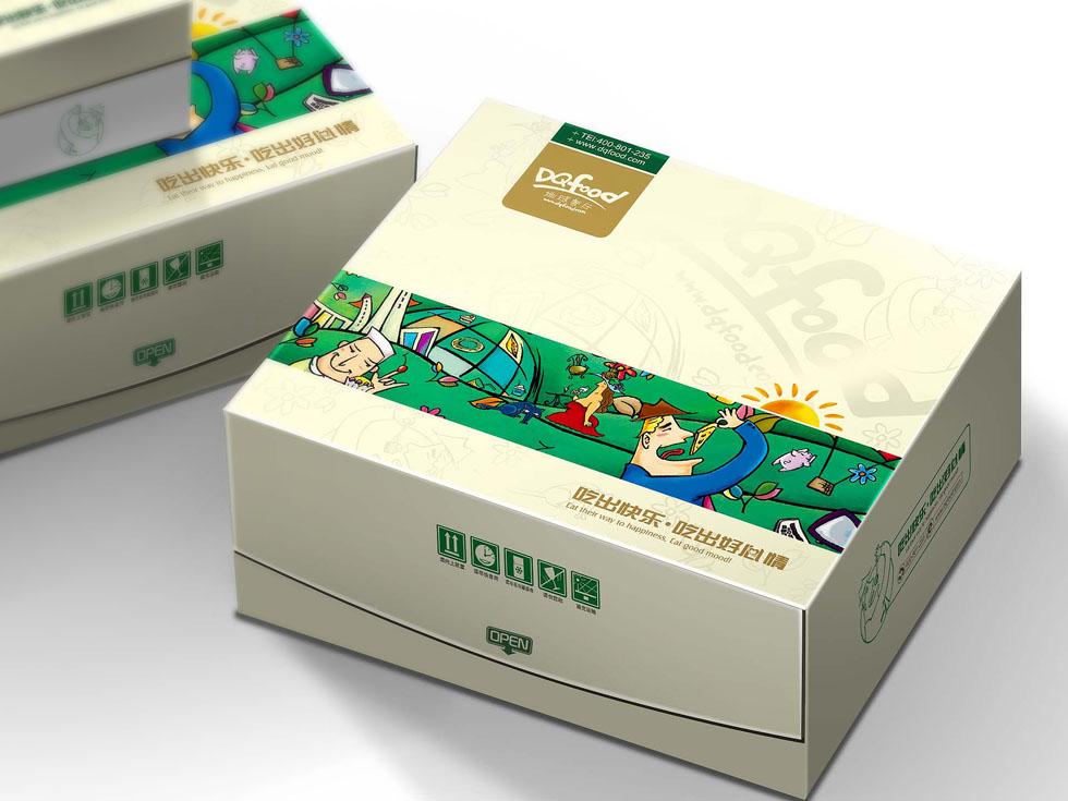 地球餐厅概念餐厅LOGO及包装插画设计