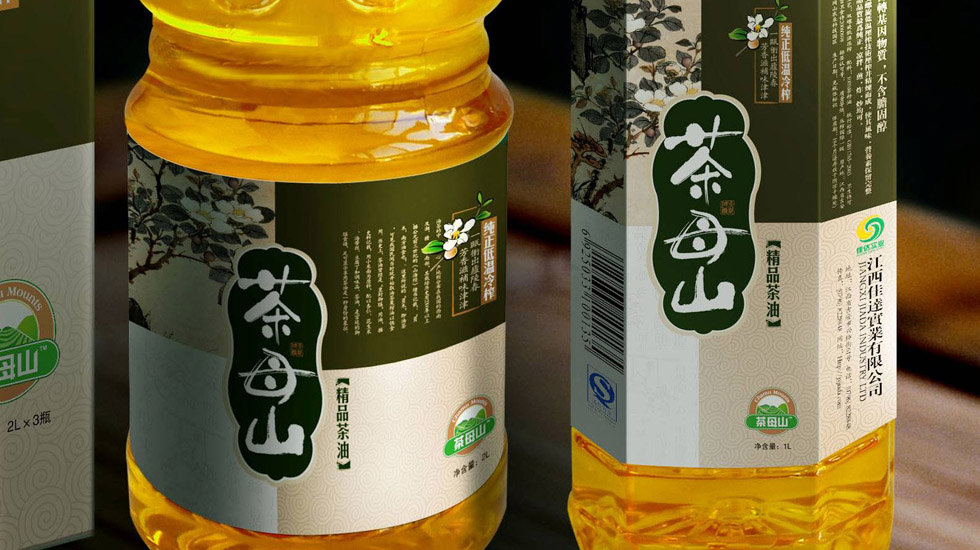 茶母山精品茶油瓶型包装设计