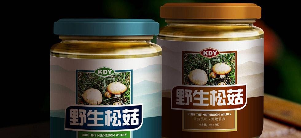 中巴天地野生菌类特色食品包装设计