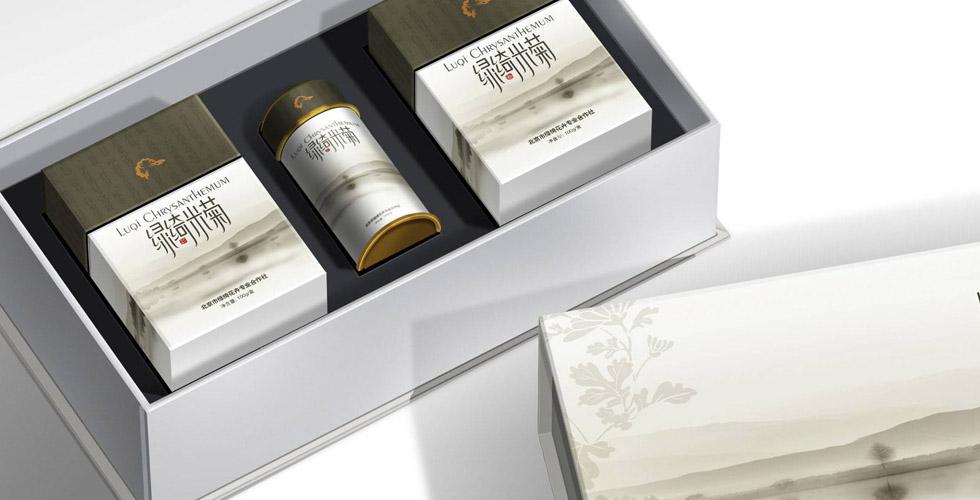 绿绮米菊茶系列包装设计