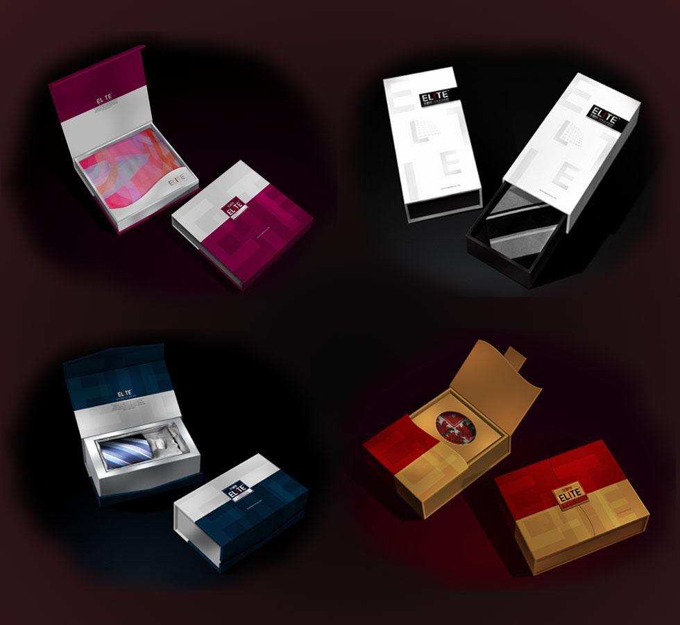艾利特 领带特色礼盒包装设计