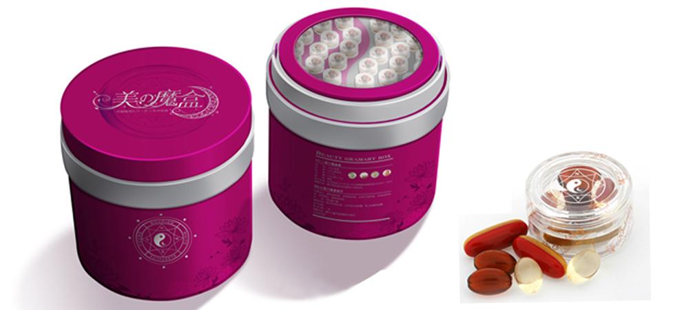 美の魔盒 养颜保健品包装设计