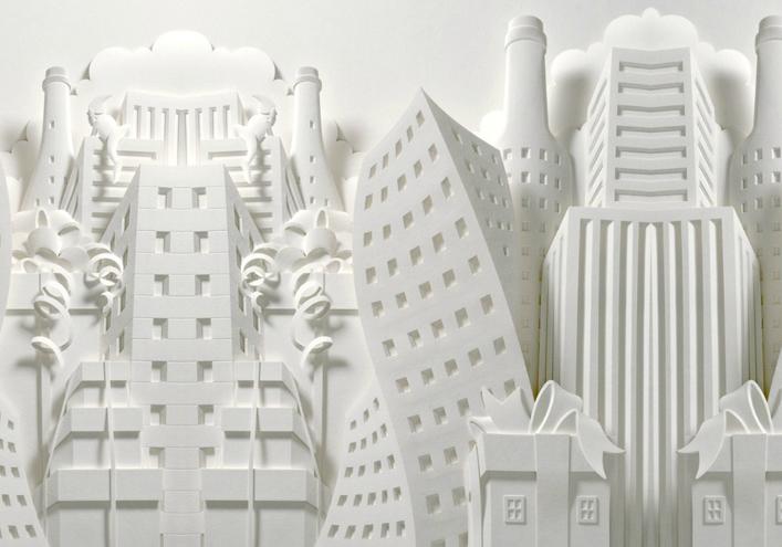 纸雕是一种以纸为素材、使用刀具塑形的工艺。纸作为立体形式的表现物出现得很早,中国很早就有手工扎作而成的人物。 随着纸材来源的普及和纸雕技术的演进,纸雕发展成一种赚钱的插图媒体。至今,纸雕仍是立体插图业的尖兵。 西方许多美术学府都设有专系,教授纸雕及其衍生出来的各种立体创作方式。 今天西林小编给大家带来一组Jeffnishinaka做的纸雕作品,值得一看          中国设计之家、设计帝国、设计网站大全、北京设计吧、高校设计图库、创意作品与图片、平面设计、 设计筑起我们的世界、中国设计在线、只做能打动